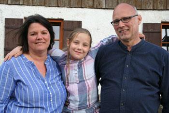 Vanessa Bosse mit ihren Eltern