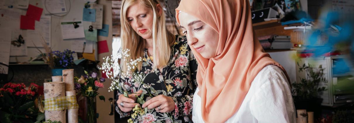 Manuela Grußie, Floristin, Syrien, Mayaz, Ausbildung